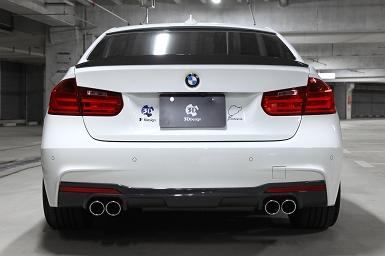 3D Design (3Dデザイン)BMW 3シリーズ F30/F31 (320i)マフラー (デュアル/4テール)