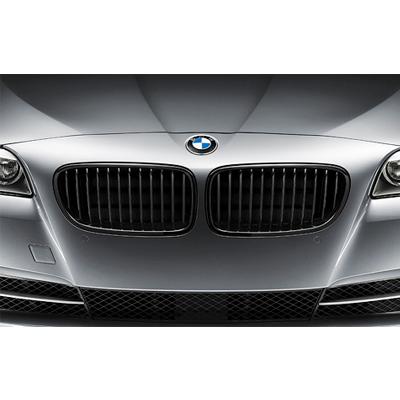 BMW 5シリーズ F10/F11ブラック・キドニー・グリル 左右セット