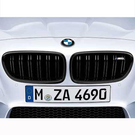 BMW 5シリーズ F10 M5ブラック・キドニー・グリル 左右セット