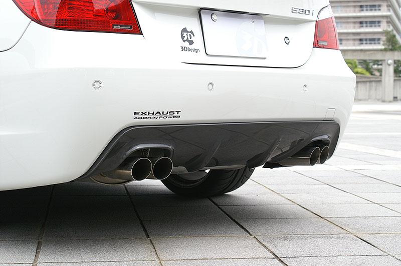 3D Design (3Dデザイン)BMW 5シリーズ E60/E61 M-sport デュアルマフラー用リアディフューザー