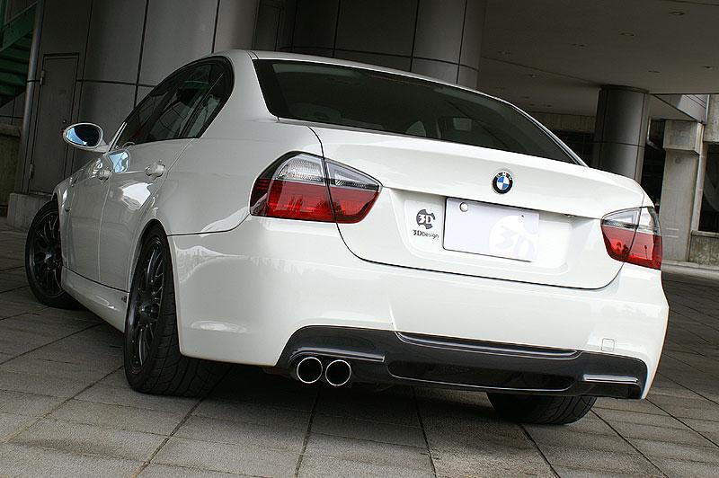 3D Design (3Dデザイン)BMW 3シリーズ E90/E91 M-Sport(320i/323i/325i/330i)リアディフューザー シングル