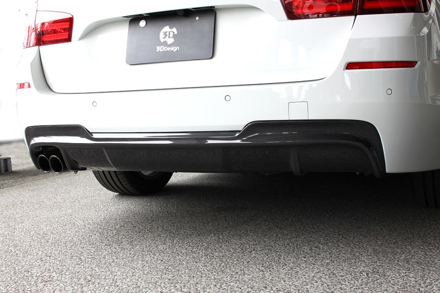 3D Design (3Dデザイン)BMW 5シリーズ F10/F11 M-Sportリアディフューザー(2テール)