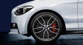 BMW 1シリーズ F20ダブルスポーク・スタイリング405M バイ・カラー(オービット・グレー/ポリッシュ)ホイール単体 フロント 7.5J×19