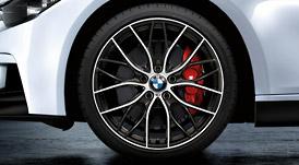 BMW 3シリーズ F30ダブルスポーク・スタイリング405M バイ・カラー(オービット・グレー/ポリッシュ)ホイール単体 フロント 8J×20