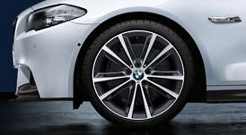 BMW 5シリーズ F10/F11Vスポーク・スタイリング464M バイ・カラー( フェリック・グレー)ホイール単体 リヤ 9J×20