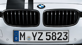 BMW 3シリーズ F30ブラック・キドニー・グリル 左右セット