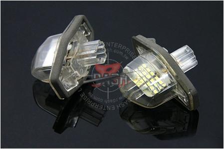 今なら超大得価 レーシングダッシュRacing Dashの爆白光ナンバー灯 ストリーム 贈呈 ロゴLEDライセンスプレートライトユニット ホンダHONDAオデッセイ 最新アイテム