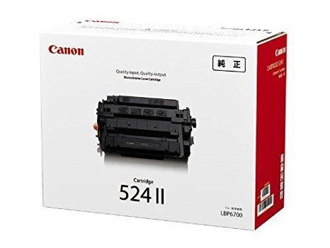 純正トナー 送料無料 一年保証付 メーカー純正 新品 送料無料 新着セール CANON トナーカートリッジ524 純正 II CRG-524II