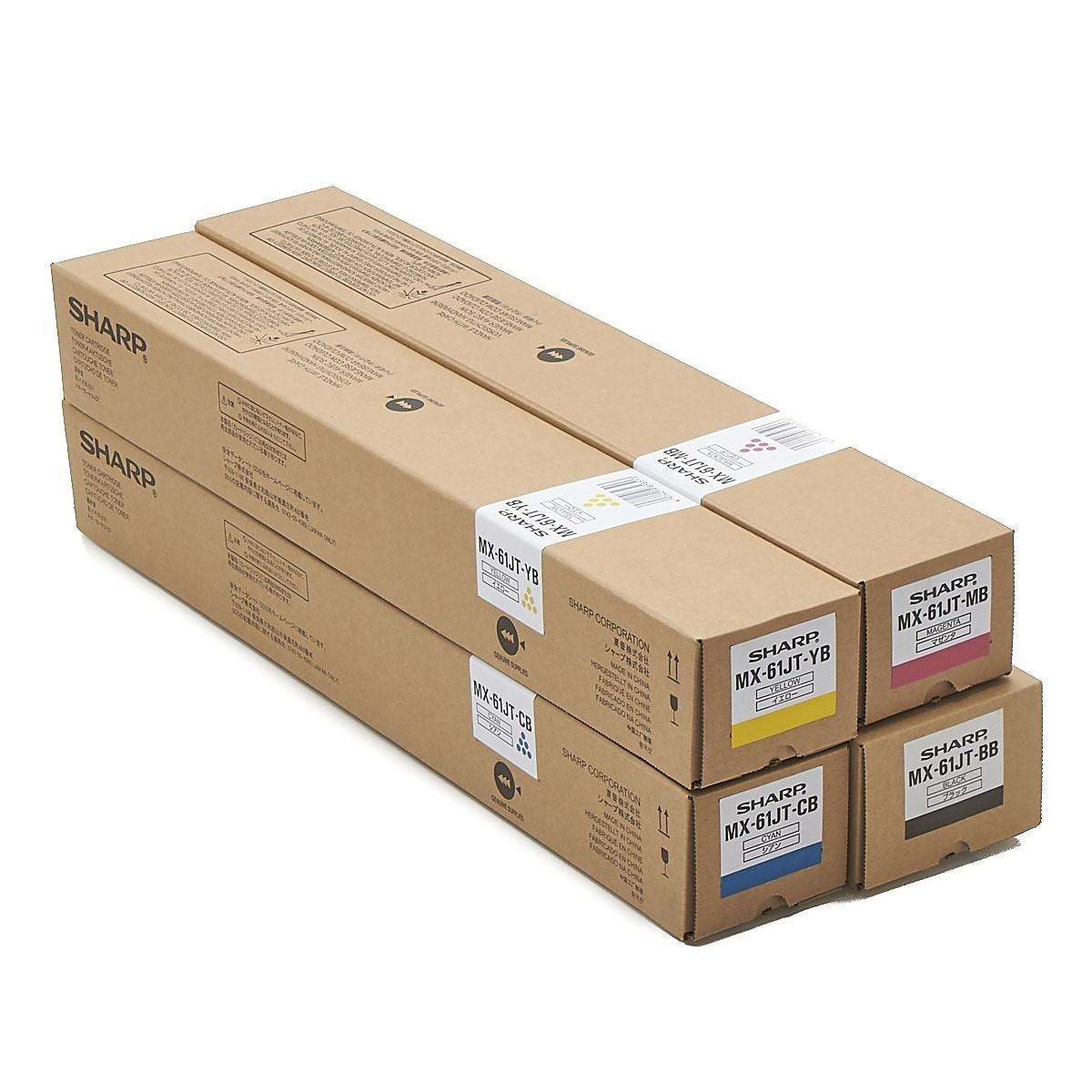 純正トナー 送料無料 一年保証付 メーカー純正 SHARP MX-61JT-BB MX-61JT-CB MX-61JT-MB 小容量 MX-61JT-YB 純正 本日限定 トナーカートリッジ アウトレット 4色セット