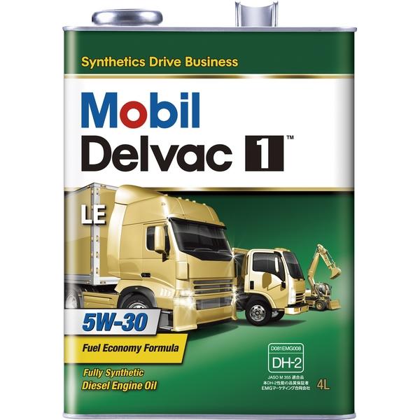 モービル モービルデルバック1 LE 5W-30 SN E9,E7,E6 DH-2 合成油 4L×6 【送料無料】【代引不可】【時間指定不可】