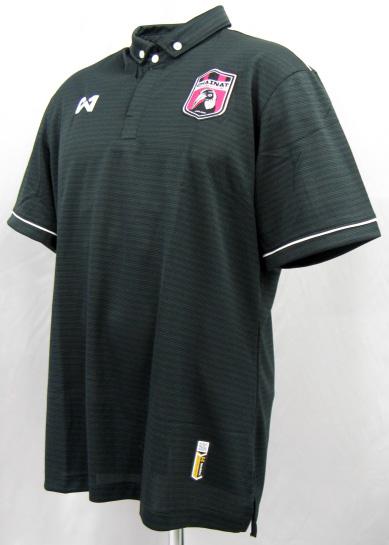 チャイナート FC 2016 팀 폴로 셔츠 (검정) 태국 프리미어리그 WARRIX 스틸