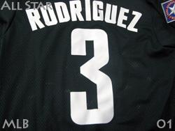 【送料無料】 MLB オールスター アメリカンリーグ 2001 #3 アレックス・ロドリゲス レンジャーズ移籍初年度