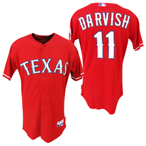 designer fashion 663dd f476e O.K.A.Football: Texas Rangers red # 11 Yu Darvish Authentic ...