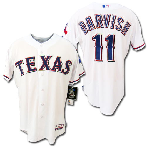 【MLB】 テキサス・レンジャーズ 白 #11 ダルビッシュ Authentic・ジャージ