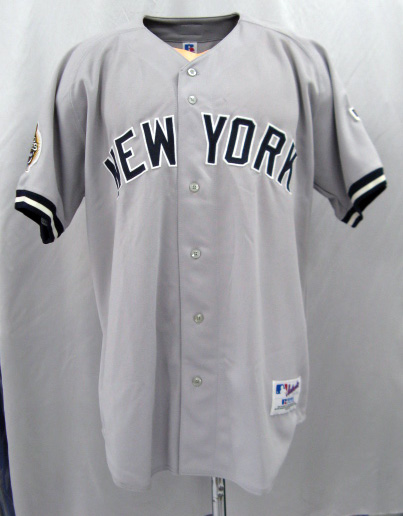 best service 1d7d9 07f4f  New York Yankees 2003 100 anniversary World Series patch with Authentic  Alternate Jersey