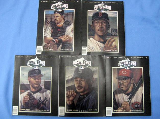 【送料無料】 MLB マリナーズ 2001年 イチロー選手他 全5種類 オールスターゲーム プログラム 【新品】