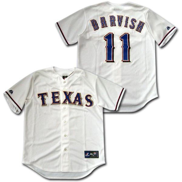 【MLB】 テキサス・レンジャーズ 白 #11 ダルビッシュ レプリカ・ジャージ