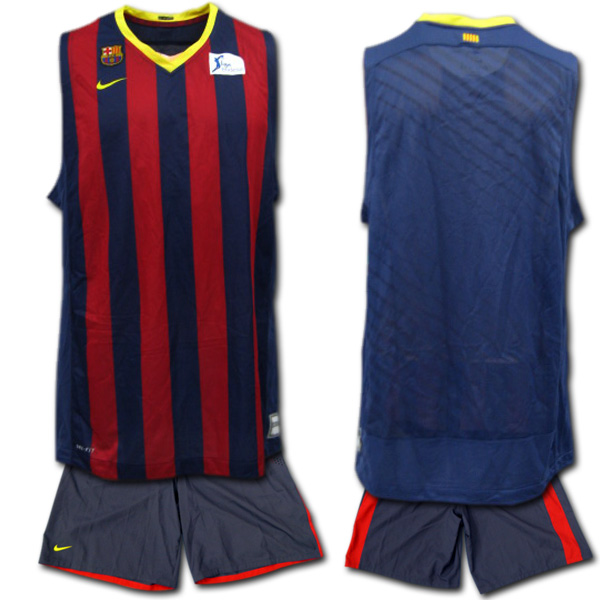 online store e9fb9 0112f FC Barcelona basketball jersey top and bottom set NIKE