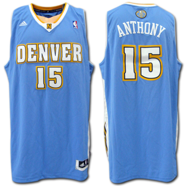 size 40 2d814 faa70 Denver Nuggets NUGGETS #15 ANTHONY car Melo Anthony (light blue) SWINGMAN  jersey