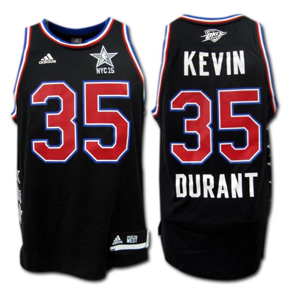 【NBA】2015 オールスターWEST #35 DURANT ケヴィン・デュラント (黒) adidas