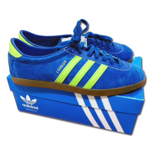 revendeur 39162 007cc  With adidas originals London city place name model sneakers blue new  article, box
