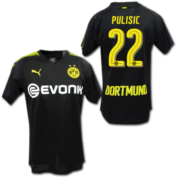 new style 83a04 3034d Product made in 17/18 Dortmund away (black) #22 PULISIC プリシッチプーマ