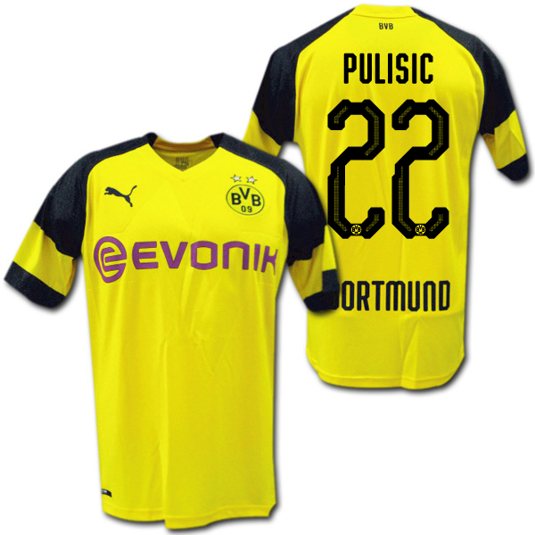 new product e135a bce6c Product made in 18/19 Dortmund home (yellow) # 22 PULISIC プリシッチプーマ