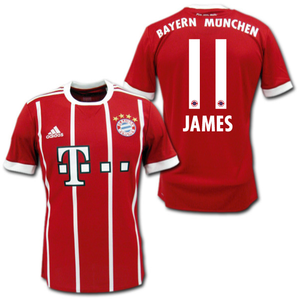 f9106590202 O.K.A.Football: Product made by Bayern Munich 17/18 home (red) #11 ...