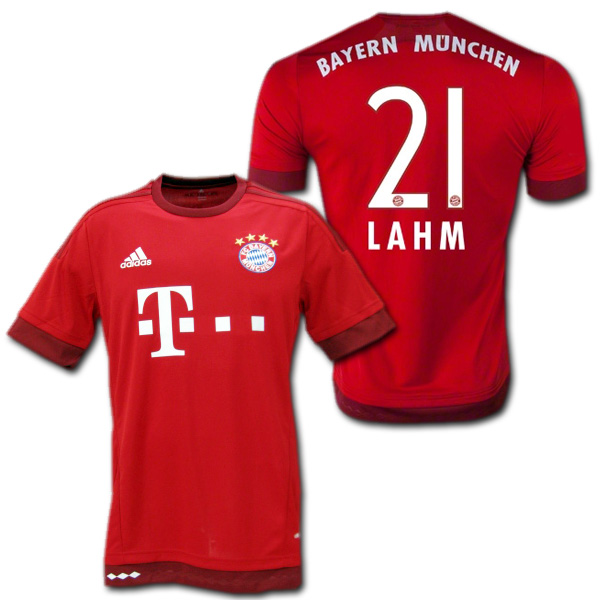 sale retailer 7cd9e d4156 Bayern Munich home 15/16 (red) # 21 LAHM Philipp-Lahm-adidas