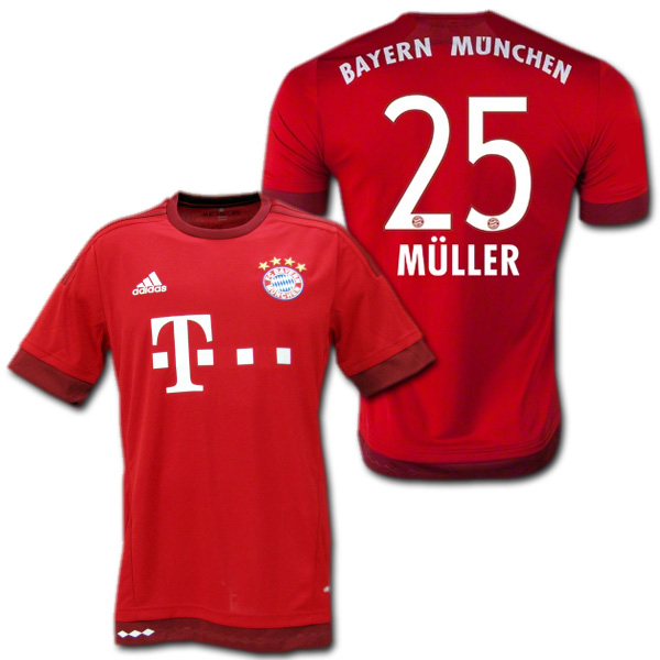 check out d60d1 0dc52 Bayern Munich home 15/16 (red) # 25 MULLER Thomas Muller made by adidas
