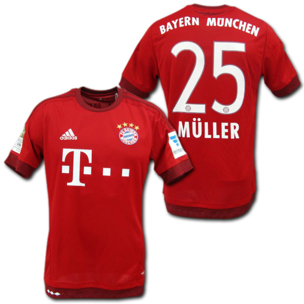 Product made in Bayern Munich 15 16 home (red)  25 MULLER Thomas Muller  adidas with death   Hermes patch 1372fe299