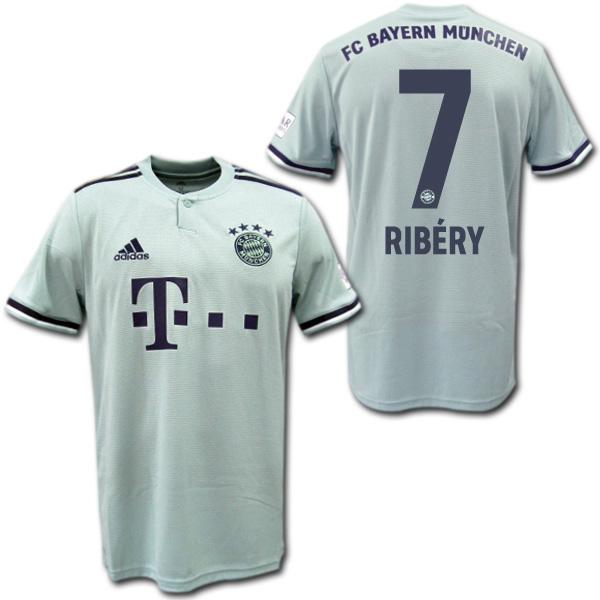 check out 378c1 e6db7 Bayern Munich 18/19 away (Ashe green) # 7 RIBERY re-berry adidas