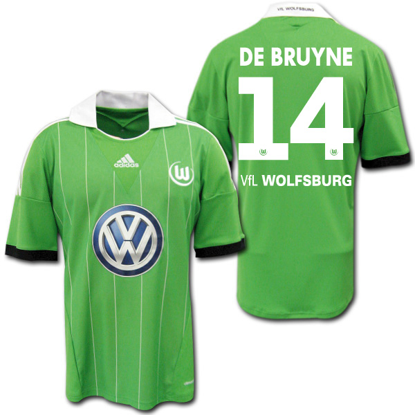 big sale 7457e cd080 Product made in 13/14 Wolfsburg Away (light green) # 14 DE BRUYNE デ bulldog  rice adidas