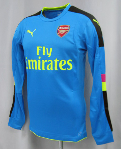 57e24a91b47 ... Product made by Arsenal 16/17 GK (light blue) long sleeves #33 ...