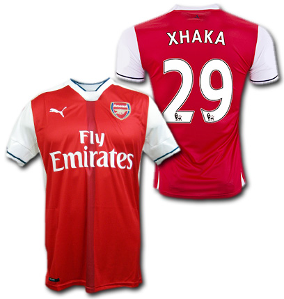 af4f513c4 O.K.A.Football  Arsenal home 16   17 (red)   29 XHAKA Granit