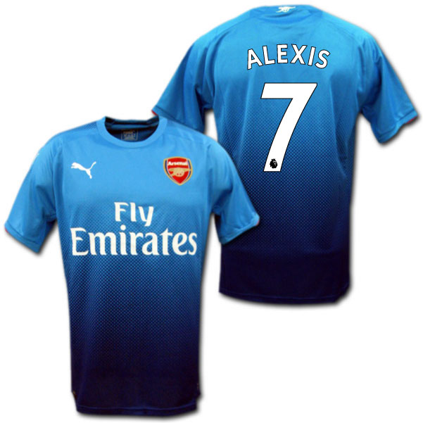 b9407d839 Product made by Arsenal 17 18 away (light blue)   7 ALEXIS Alexis Sanchez  Puma