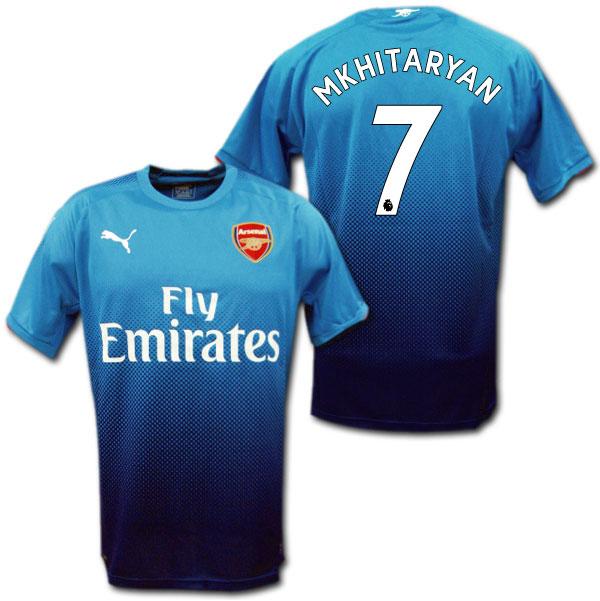 Product made in Arsenal 17 18 away (light blue)   7 MKHITARYAN ムヒタリアンプーマ ad3041559