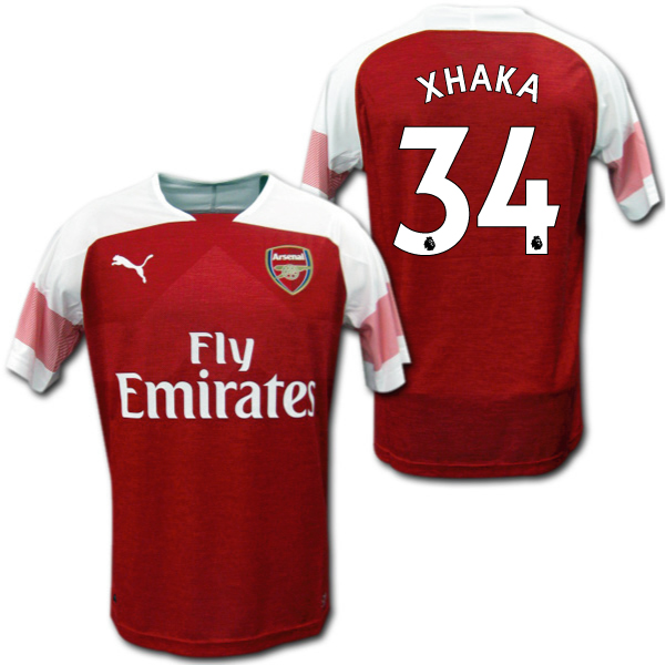 new product 3e486 14932 Product made in Arsenal 18/19 home (red white) # 34 XHAKA グラニト ジャカプーマ