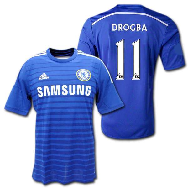 new concept f76cd 814c0 Product made by Chelsea 14/15 home (blue) #11 DROGBA Didier Drogba Adidas