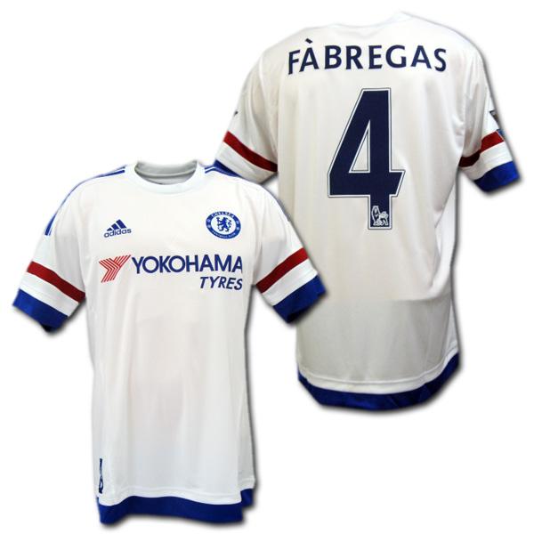 Chelsea away 15/16 (white) # 4 FABREGAS CESC Fabregas made in adidas