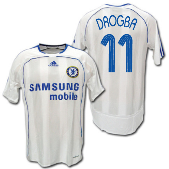 online store 9b322 ec402  # 11 DROGBA Didier Drogba adidas for the Chelsea 06/07 away (white) player