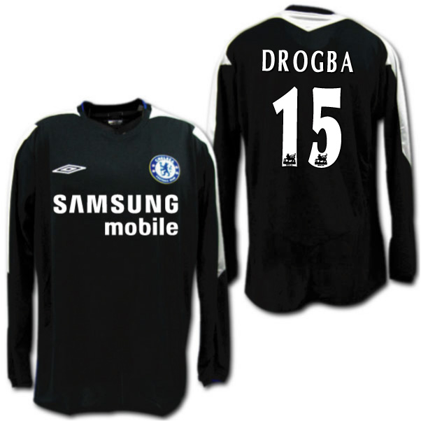 the latest c713e 0793f It is made in Chelsea 05/06 third (black) long sleeves # 15 DROGBA Didier  Drogba Ann bath
