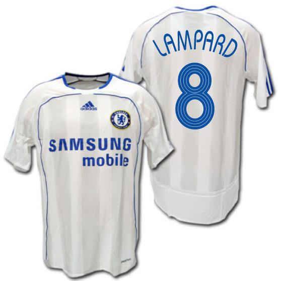 【CL仕様】 チェルシー 06/07  アウェイ(白) 選手用 #8 RAMPARD フランク・ランパード adidas