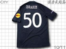 【選手支給品】マンチェスターシティ 10/11 アウェイ 半袖 #50 IBRAHIM EL+RESPECTパッチ