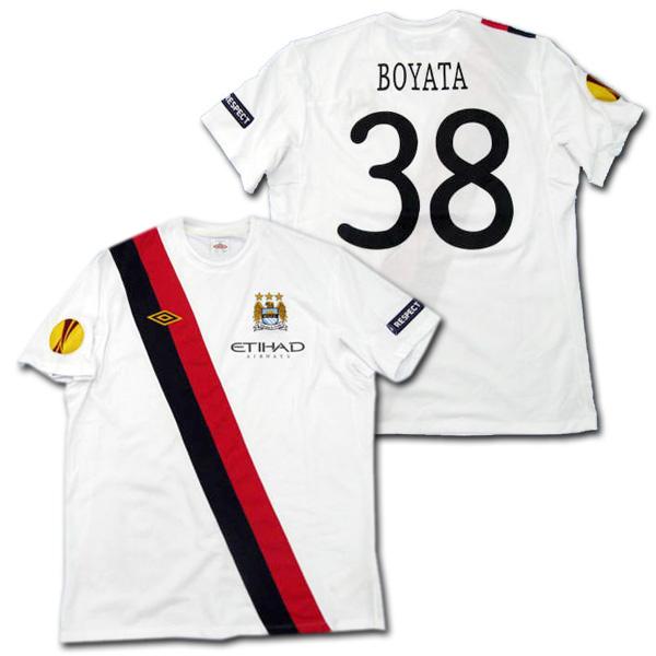 【選手支給品】マンチェスターシティ 10/11 サード 半袖 #38 BOYATA EL+RESPECTパッチ