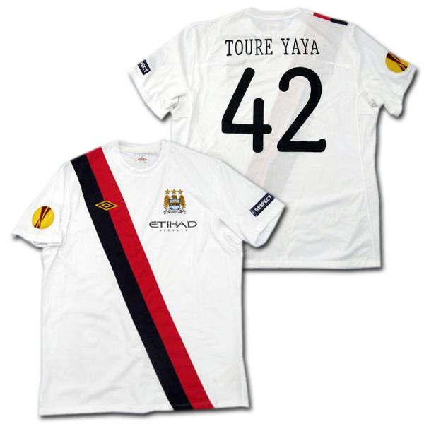 【選手支給品】マンチェスターシティ 10/11 サード 半袖 #42 TOURE YAYA EL+RESPECTパッチ