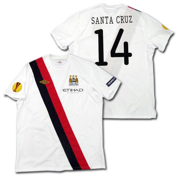【選手支給品】マンチェスターシティ 10/11 サード 半袖 #14 SANTA CRUZ EL+RESPECTパッチ