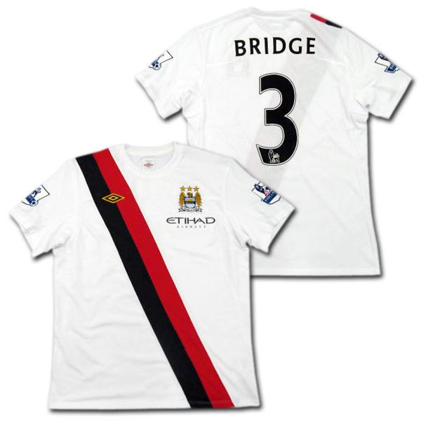 【選手支給品】マンチェスターシティ 10/11 サード 半袖 # 3 ウェイン・ブリッジ EPLパッチ