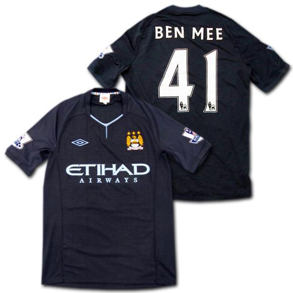 【選手支給品】マンチェスターシティ 10/11 アウェイ 半袖 #41 Ben Mee EPLパッチ