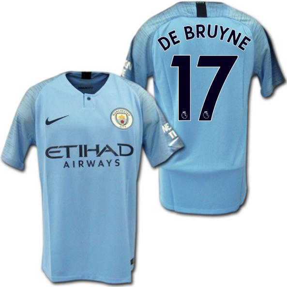 40faee311aa O.K.A.Football  Product made by Manchester City 18 19 home (light blue)    17 DE BRUYNE De Bruyne Nike